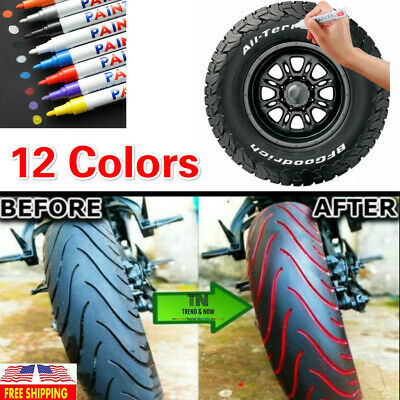 Permanent Tire Paint Pen Waterproof Marker Pen Car Tyre Tire Tread Rubber Metal