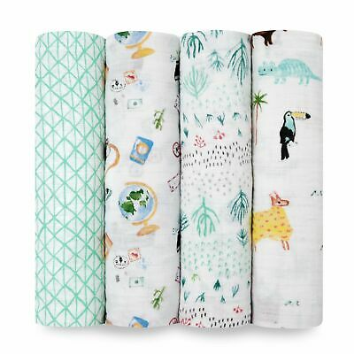 Aden + Anais Around The World 4-pack classic swaddles