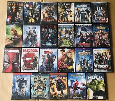 21 Marvel DVD Lot Movie Avengers Collection Ant-man and the Wasp Thor 123 NEW US