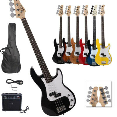 New Professional 3 Colors GP Glarry Electric Bass Guitar with AMP