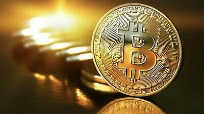 Bitcoin Commemorative Round Collector Coin Gold Plated Crypto Coins QLD SELLER