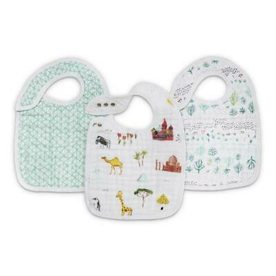 Aden + Anais Around the World Classic Snap Bibs 3-Pack