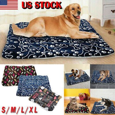 1ff4622233c8 Pet Washable Home Blanket Large Dog Bed Cushion Mattress Kennel Soft Crate  Mat