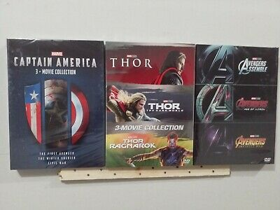 Thor, Captain America,  and Marvel Avengers 1-3 Collection DVD BOX SET New