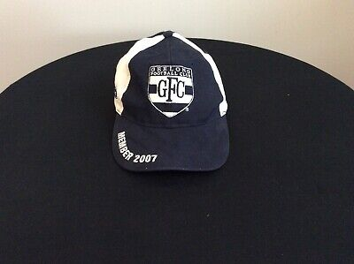 Geelong Cats Supporters Cap ...Premiership Year 2007..Very Good Clean Condition