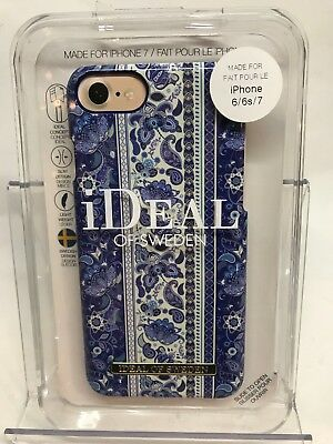 Authentic iDeal of Sweden Boho Case for iPhone 8 & iPhone 6/6s/7 (White/Blue)
