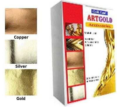 24ct Gold silver copper Leaf sheets  300 Gold sheets  Gilding, Art,