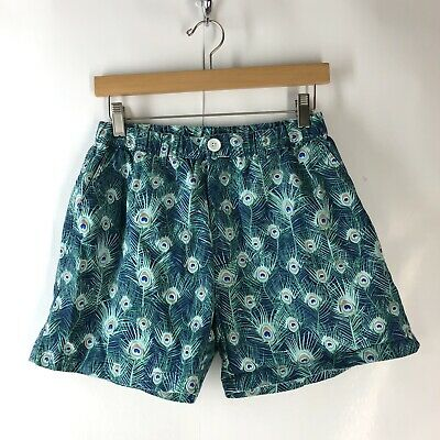 1819ece4e Chubbies Men's Size Medium Teal Blue Peacock Printed Elastic Waist Shorts  GUC
