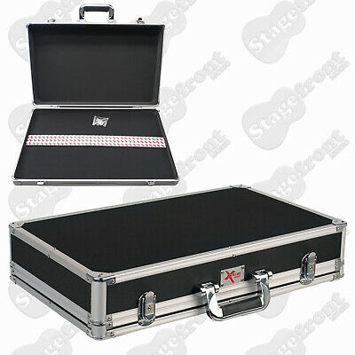 Pedal Road Case With Removable Lid & Aluminium Binding Medium Size *New*