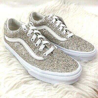 f85ad6b943b7 VANS Old Skool Chunky Glitter Shoes VN0A38G1QSG Women's 7.5 Chapagne Silver