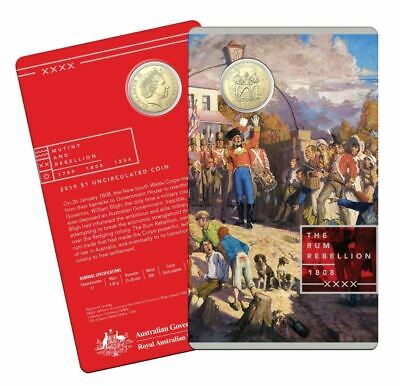 2019 THE RUM REBELLION Coin on Card