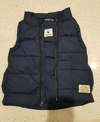 Country Road Boys Size 2-3yrs Navy Puffer Vest Ex Cond