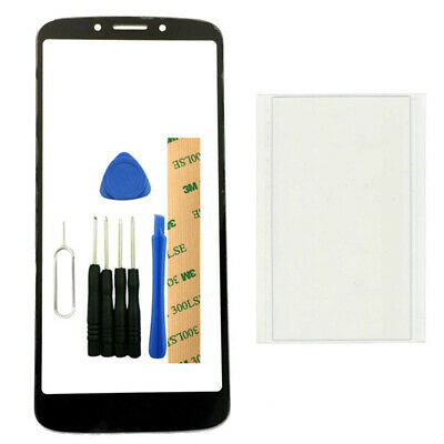 For Motorola Moto E5 PLUS Black Front Touch Screen Glass Lens Replacement + Tool