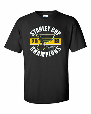 St. Louis Blues 2019 Stanley Cup Champions Black T-Shirt - S-5XL FREE SHIPPING