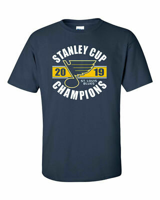 St. Louis Blues 2019 Stanley Cup Champions Navy T-Shirt - S-5XL FREE SHIPPING