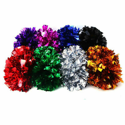 Colorful PomPom Soccer Clubs Cheerleader Cheerleading Cheer Dance Party Supplies