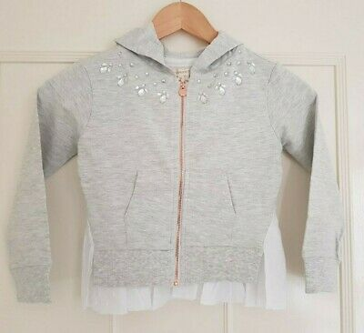 Girls Designer Angel and Rocket Jewelled grey jersey hoody  AGES 3-12  rp £35