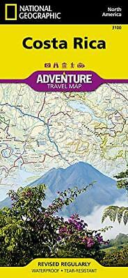 Costa Rica - Adventure map National Geographic Fol Lam Ma 3100 Anglais 1 pages