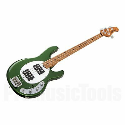 Music Man USA Stingray 4 Special HH EV - Charging Green MN *NEW* roasted neck