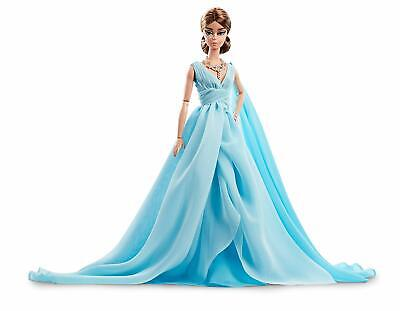 Fashion Model Collection Blue Chiffon Ball Gown Barbie Doll F/S