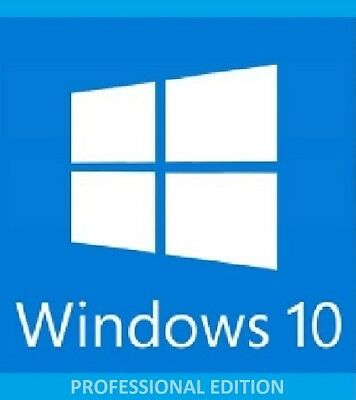 Windows 10 Professional Pro 32 64 Bit recovery dvd + license key 1st recorded