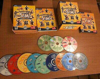 The Sims 1 Complete Collection All Expansion PC Box Set + Manuals and Codes