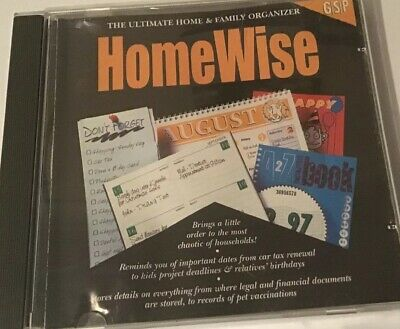 HOMEWISE THE ULTIMATE HOME & FAMILY ORGANISE  PC CD ROM SOFTWARE - Free Fast Pos