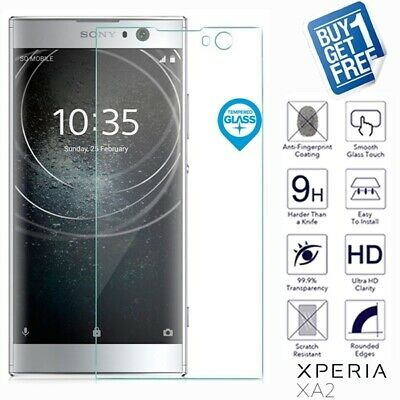 2 x For Sony Xperia XA2 Geniune Tempered Glass Screen Protector Film Cover Clear