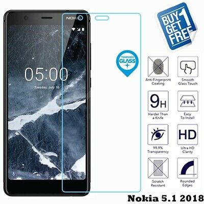 For Nokia 5.1 2018 Geniune Tempered Glass Screen 9H Protector Film Cover Clear