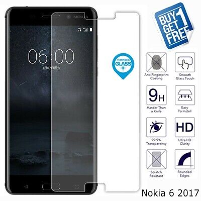 2 x For Nokia 6 2017 Geniune Tempered Glass Screen 9H Protector Film Cover Clear