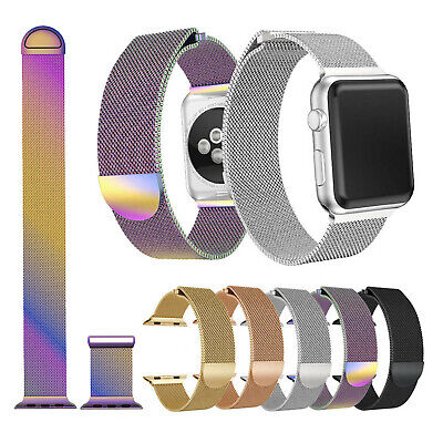 For Apple Watch Series 4 3 2 Milanese Mesh Magnetic Wrist Band Strap Bracelet