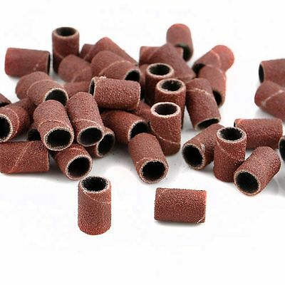 Safety Girl 100 PCS Sanding Bands Drill File Machine Bits Rings for Nail Art