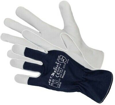 Heavy Duty Work Gloves Made of High Quality Leather Goatskin, Safety Gauntlets