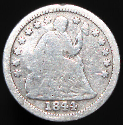 1844 | U.S.A. Seated Liberty Half Dime | Silver | Coins | KM Coins