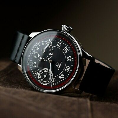 Mens watch Omega Regulateur marriage wristwatch mechanical movement leather