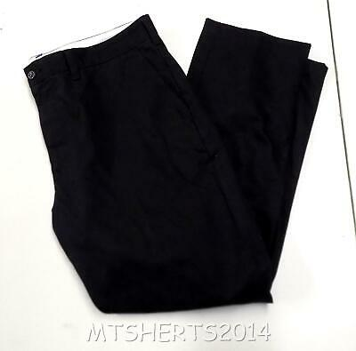 Mens Ex M&S Premium 100% Cotton Chino Trousers Smart Casual Black ALL SIZES PB14