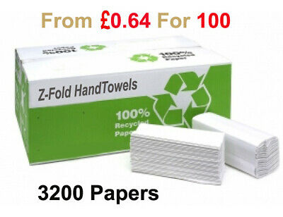 3200 Luxury White 2ply Z Fold Hand Towels MultiFold Premium Quality paper /pack