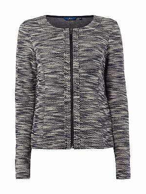 0f759946c6ec9a TOM TAILOR DAMEN Sweatmantel Sweatjacke Mantel Jacke Sweat Mode grau ...
