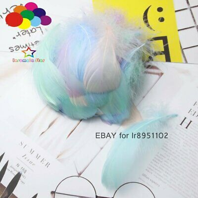 32 color 100 Pcs/Lot Goose Feathers 8-12cm 3-5 Inch Small Floating Plume Craft