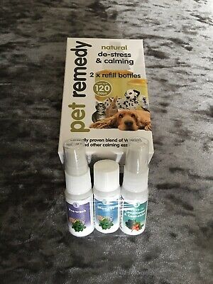 Pet Remedy Natural De-Stress and Calming Refill Pack, 40 ml, Pack of 2 Plus Wash