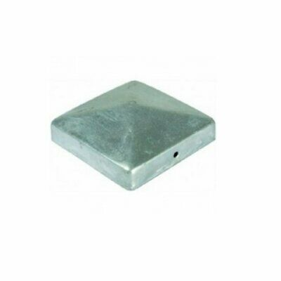 "Square Metal Fence Gate Post Cap Caps Flange 62 or 102 mm /""High Pyramid/"""