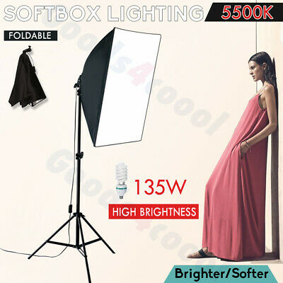 135W Photography Studio Softbox CFL Continuous Lighting Soft Box Light Stand Kit
