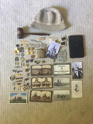 Vintage  Junk Drawer Lot Post Cards  Military  Ect