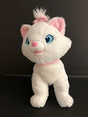 """Disney Store Aristocats Marie Plush White Cat 12"""" Tall Stuffed Authentic Patch"""