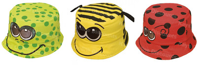 Childrens Summer Hat Boys Girls Novelty Animal Beanie Bush Bucket Beach Sun Cap