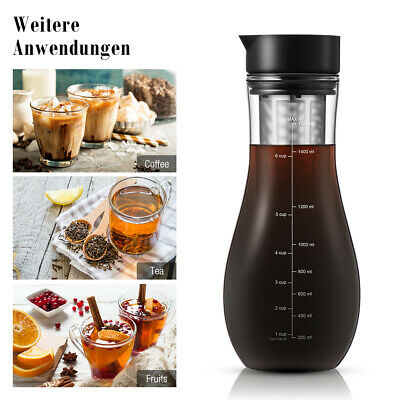 1500ML Cold Ice Brew Coffee Maker Tea Brewing W/ Filter for Home office SH302