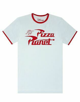 Toy Story Pizza Planet Logo Woody Buzz Ringer Mens T-Shirt