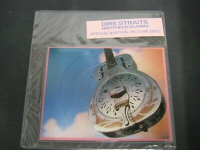 """Vinyl Record 10"""" Shaped Pic Disc DIRE STRAITS BROTHERS IN ARMS Spec Edition(W)95"""