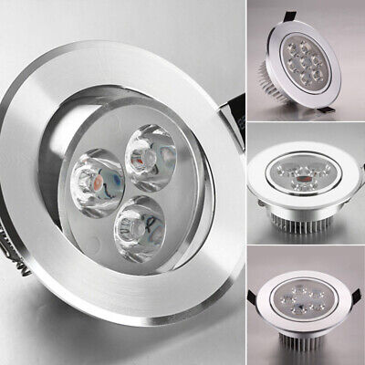 Modern 9W 12W 15W LED Alu Ceiling Recessed Down Fixture Lamp Light & Driver