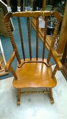 Vintage Youth Maple Rocking Chair